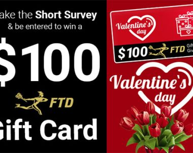 Valentine's Day! – $100 Flower Delivery Gift Card Giveaway (US)