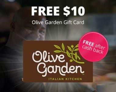 FREE $10 Olive Garden Gift Card -TopCashBack (US)