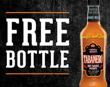 FREE Bottle Of The Tabanero Hot Sauce Coupon (US)