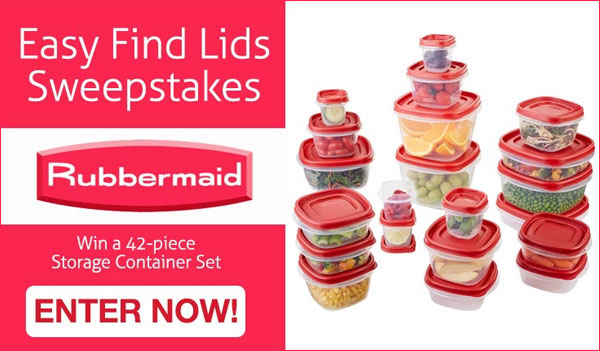 Rubbermaid Easy Find Lids Sweepstakes (US)