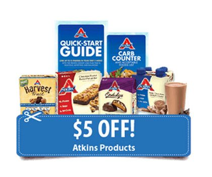 $5 Off Atkins Coupon + Free Quick-Start Kit (US)