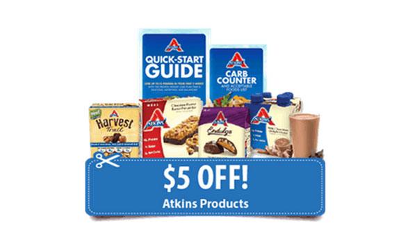 $5 Off Atkins Coupon + Free Quick-Start Kit (US)