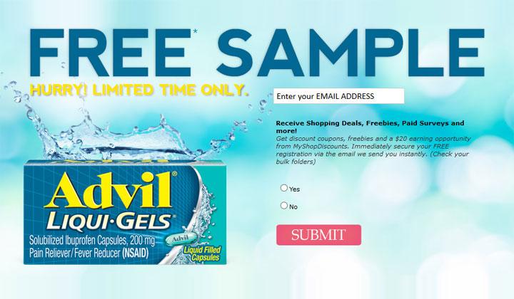FREE Advil Samples (US Only)