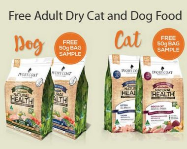 FREE Adult Dry Cat and Dog Food by Ivory Coat (AU)