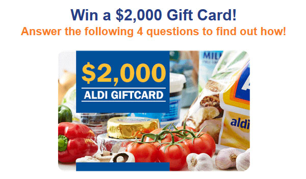 $2000 Aldi Shopping Voucher – OZ Offers (AU)