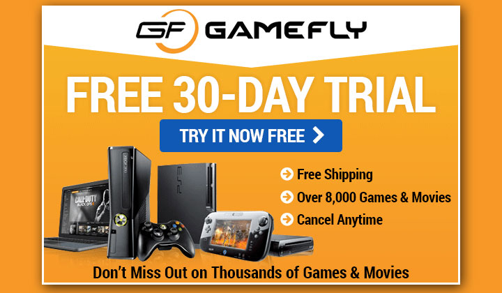FREE Gamefly Subscription (US Only)