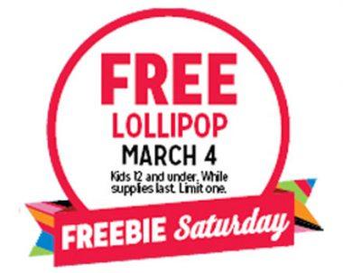 FREE Lollipop at Kmart (US)