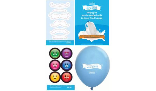 FREE Milk Delivers Balloons, Stickers and Posters (US only)