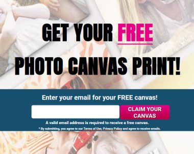 FREE Canvas Print – Email Submit (US Only)