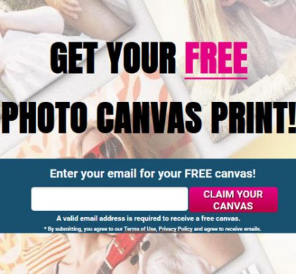 FREE Canvas Print – Email Submit