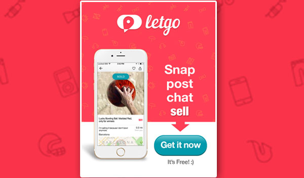 FREE Letgo App – Buy and Sell Used Stuff (US Only)