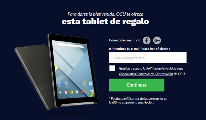 OCU Android Tablet (ES Only)