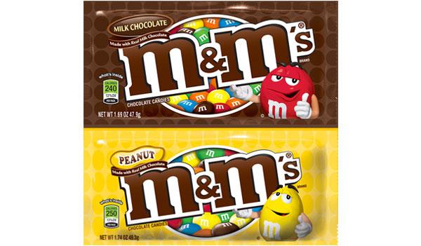 M&Ms – Plain vs Peanut (US)