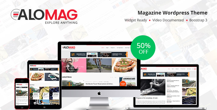 eAloMag WordPress Magazine Theme (50% OFF)
