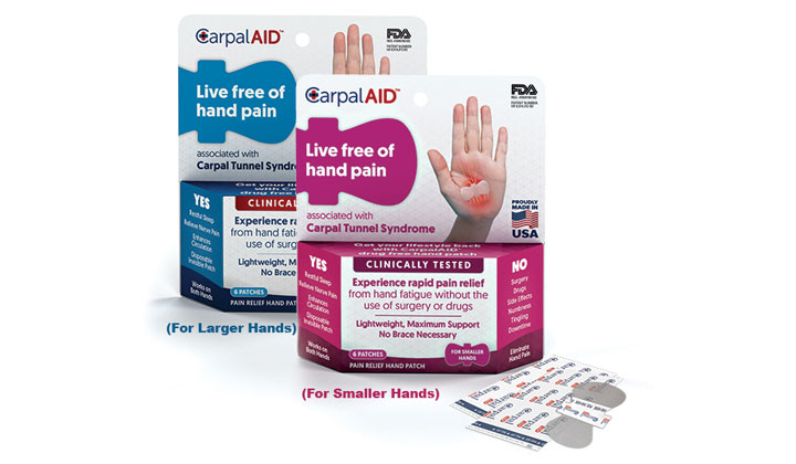 FREE CarpalAid Sample: Carpal Tunnel Syndrome Pain (US Only)