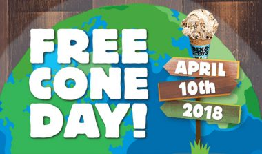 FREE Cone Day at Ben and Jerry's on April 10th