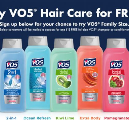 FREE V05 Family Size Shampoo and Conditioner (US Only)