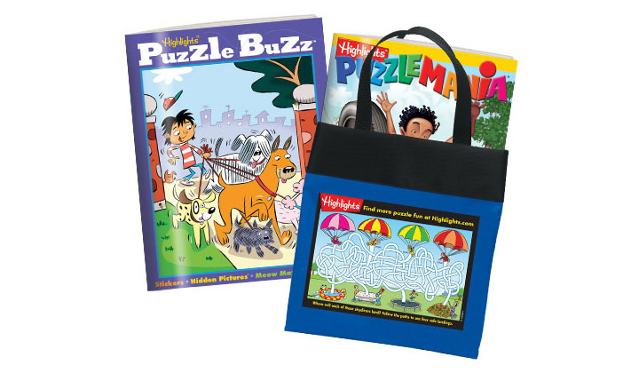 Highlights Puzzle Club – 2 Free Books + Free Tote + Free Shipping (US Only)