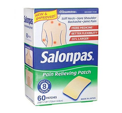 FREE Salonpas Pain Relieving Patch 2ct Sample (US Only)
