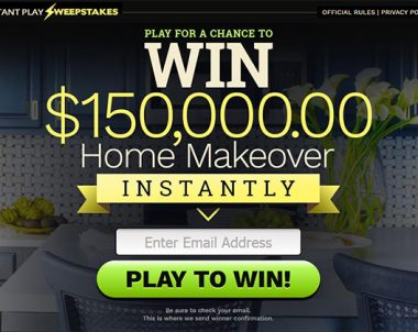 WIN A Home Makeover – One Field (US Only)