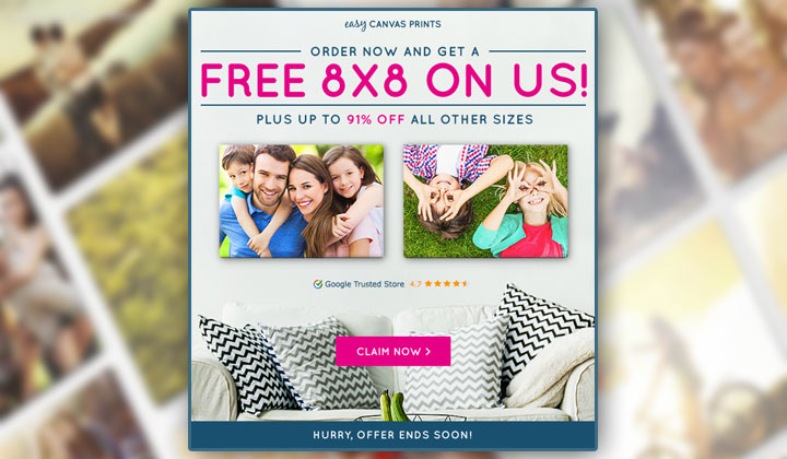 Easy Canvas Prints FREE 8×8 (US Only)