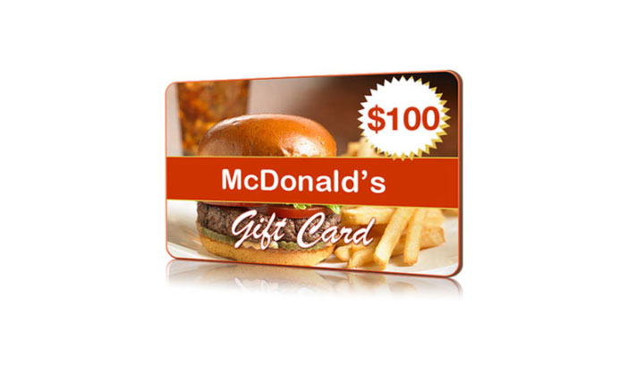 $100 FREE McDonald's Gift Card – National Consumer Center