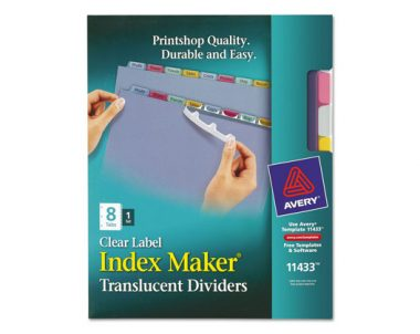 FREE Avery Printable Dividers Sample Pack (US Only)