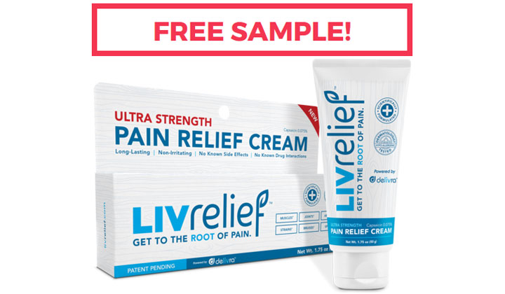 FREE LivRelief Pain Relief Cream!