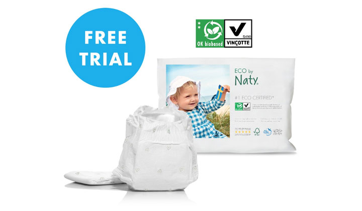 FREE Sample Bag of Naty Eco Diapers (US & CA Only)