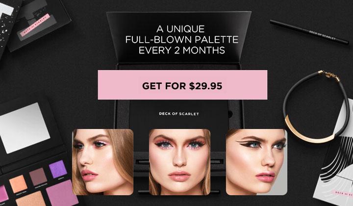 Deck of Scarlet – Makeup Palette Subscription (US Only)