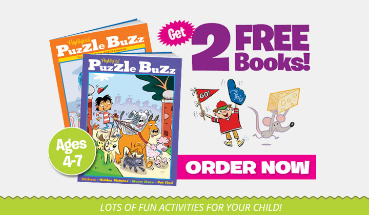 2 FREE Puzzle Books from Highlights Puzzle Buzz!