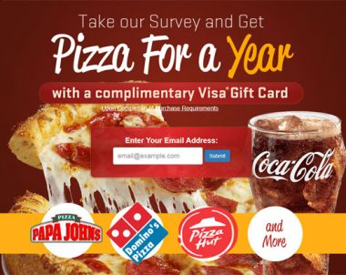 Get a Pizza Gift Card – One Field (US Only)