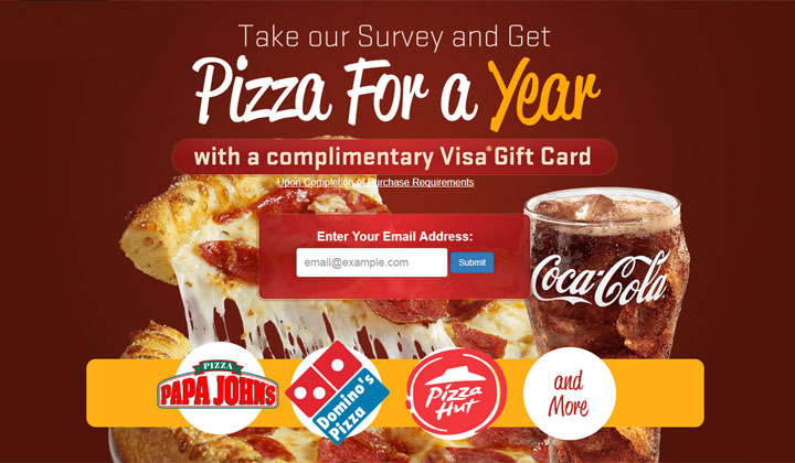 Get a Pizza Gift Card – One Field