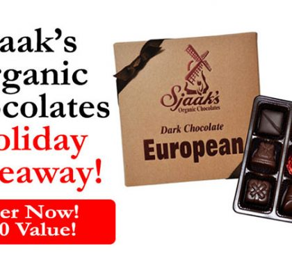 Sjaak's Organic Chocolates Holiday Giveaway (US Only)