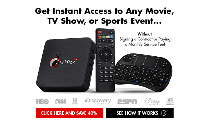 Tickbox TV – Save 40% (US Only)