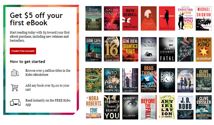 Kobo Free eBooks (Incent)