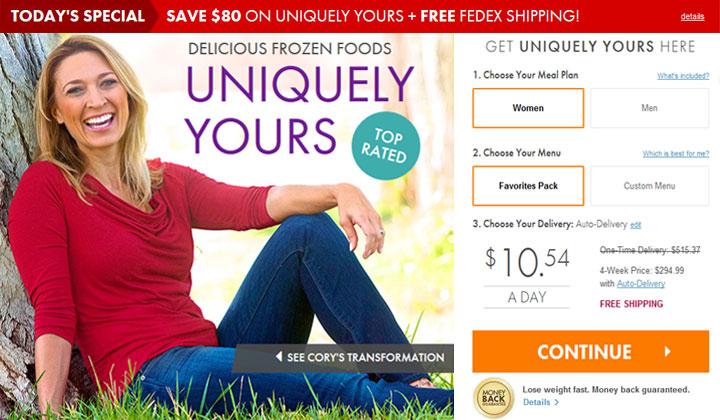 Nutrisystem Uniquely Yours – $80 OFF
