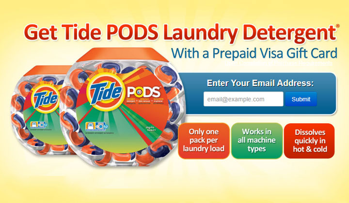 Tide PODS Laundry Detergent – Email Submit (US Only)