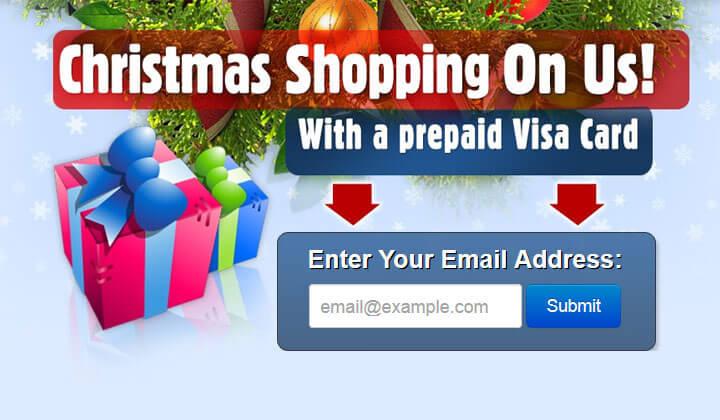 Christmas Prepaid Visa Gift Card