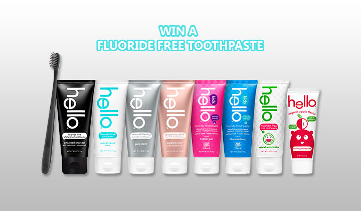 Win A Fluoride Free Toothpaste from Hello Oral Care
