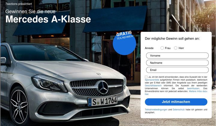 Mercedes Benz Sweepstakes – Incentive – DACH – DOI
