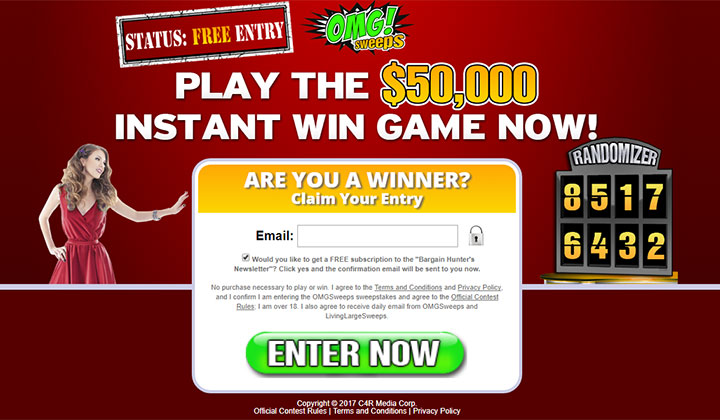 OMG Sweeps: Play The $50,000 Instant Win Game Now!