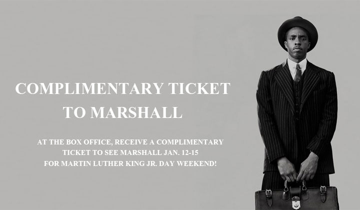 FREE Marshall Movie Tickets