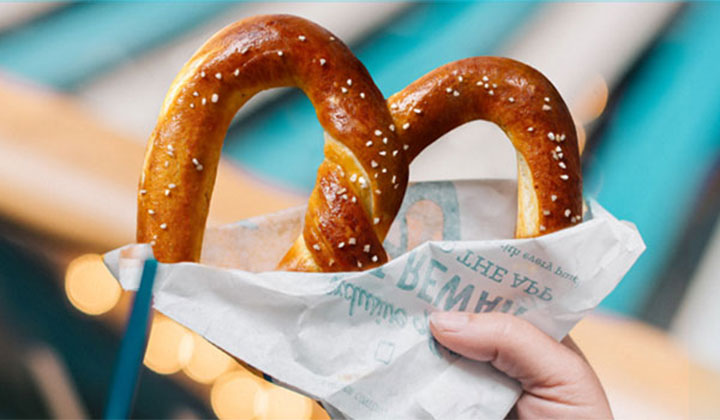 Auntie Anne's Free Pretzel on 3/3 from 10AM – 2PM