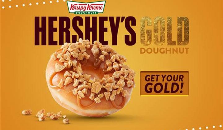 FREE Hershey's GOLD Doughnut at Krispy Kreme (Today Only)