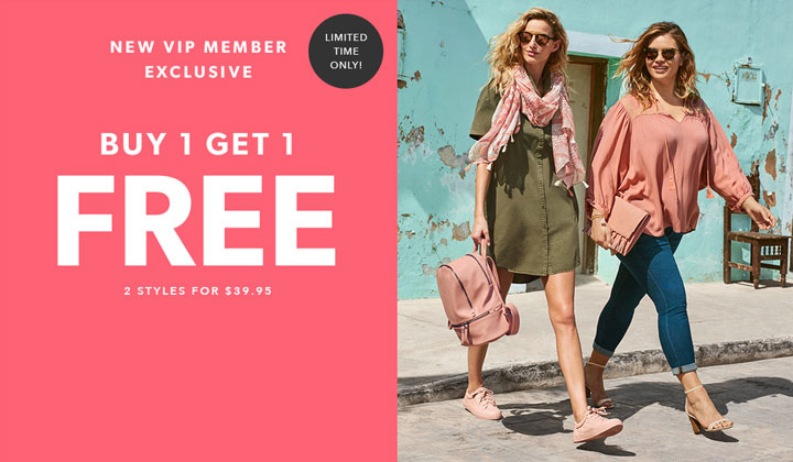 JustFab – Buy One Get One FREE