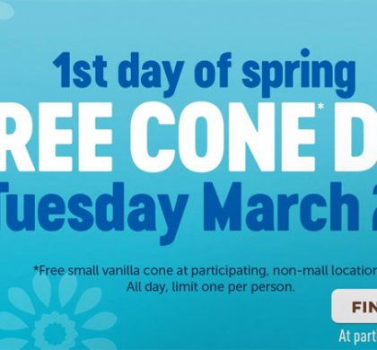 FREE Small Vanilla Cone from Dairy Queen On March 20th