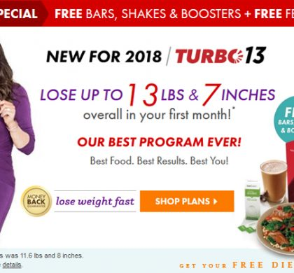 Nutrisystem Coupon Codes – FREE Bars, Shakes & Boosters (40% OFF)