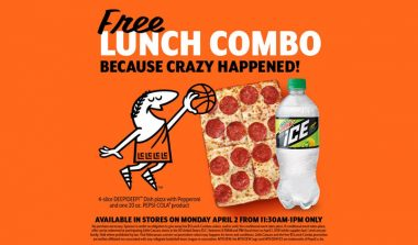FREE Little Caesars Lunch Combo (Today Only)