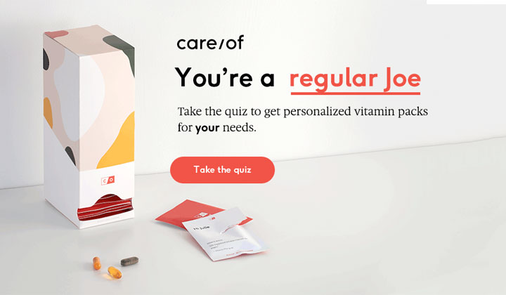 TakeCareOf – Personalized Vitamin Plan (25% Off)